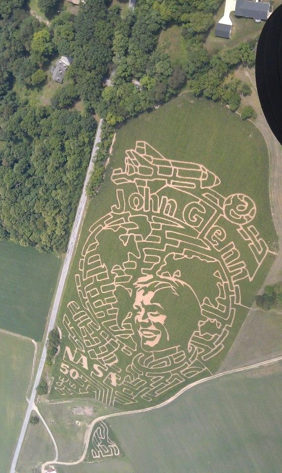 John Glenn corn maze