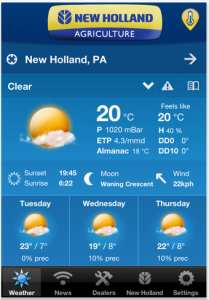 New Holland weather app