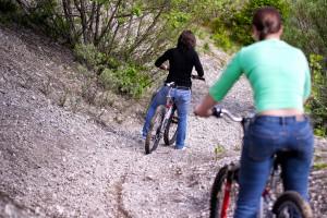 photo of mountain bikers
