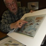 "Self-taught Ohio artist Kevan Crouse describes a ""memory art"" piece that collects the parts of a perfect canoe trip and displays them as a perfectly enjoyable original work of art. (Mike Tontimonia photo)"