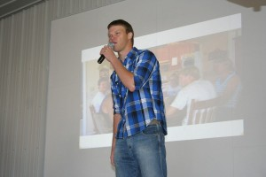 Greg Peterson, of Peterson Farm Brothers fame, at the 2013 Farm Science Review.