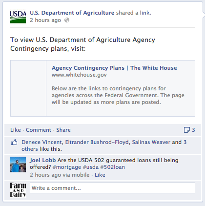 USDA Facebook