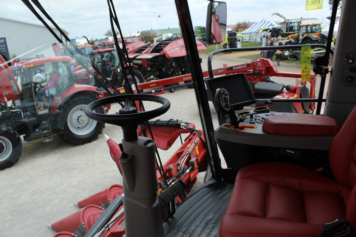 Inside Of A Combine : Equipment companies showcase their newest at farm science