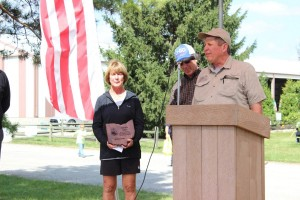 Regional conservation award winners Bruce and Carole Goodwin, Warren County