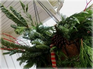 Bough holiday basket
