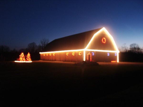 Grand River Valley tree farm barn