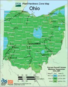 Ohio hardiness map