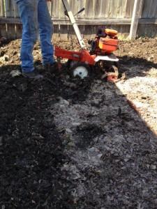 rototilling garden soil