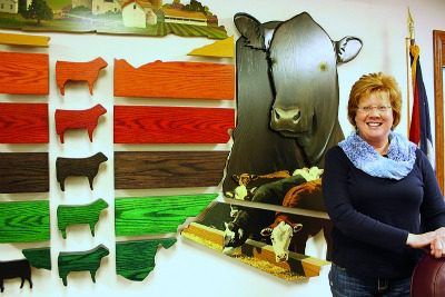 She was young when she was named executive director of the Ohio Cattlemen's Association in 1990 — and she was a female — but Elizabeth Harsh expanded the association's visibility and built programs that are now the envy of other state cattle associations nationwide. (Susan Crowell photo)