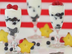 yogurt and fruit parfaits