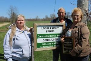 The Locke family. Lisa Johnson (left), Leon and Karen Locke.