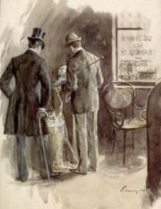 Ticker Tape Broker 1894