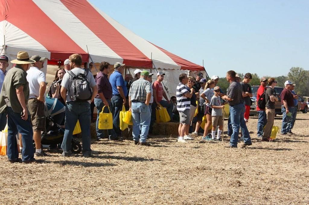 Farm Science Review drone demo crowd