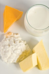 milk, cheese, butter, cottage cheese